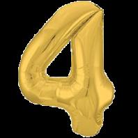 Цифра из фольги золото 4