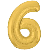 Цифра из фольги золото 6