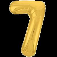 Цифра из фольги золото 7