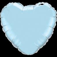 Сердце голубое пастель