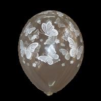 Шелкография кристалл 14″ Бабочки -038