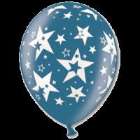 Шар с рисунком «звезды металлик»