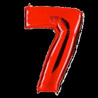 Цифра из фольги Красный 7