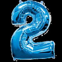 Цифра из фольги синий 2